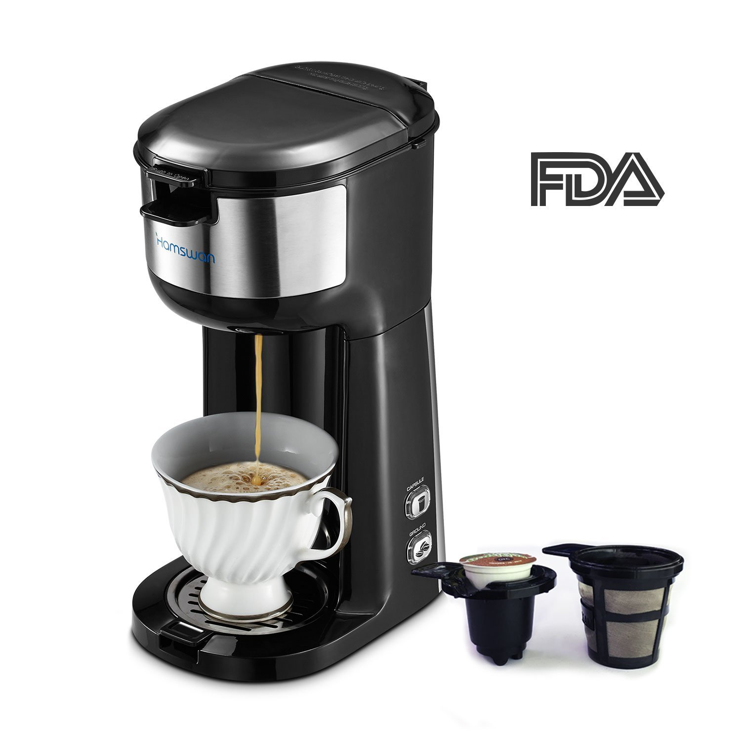 Single Serve Coffee Maker, HAMSWAN K Cup Coffee Maker