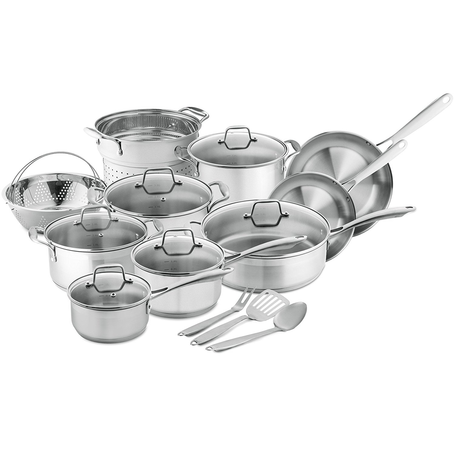 Chef's Star Stainless Steel Cookware Set