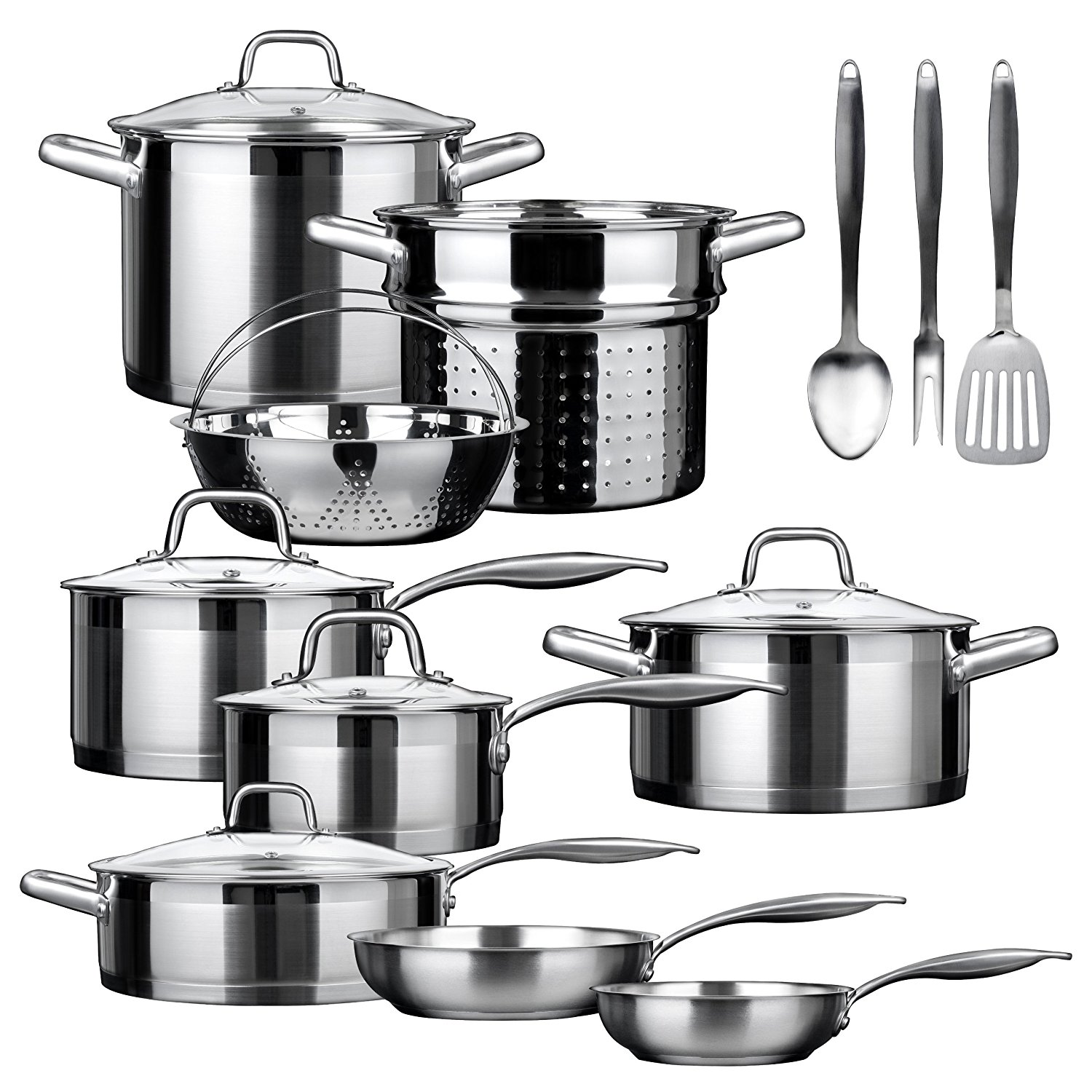 Duxtop - Secura SSIB-17 Induction Cookware Set