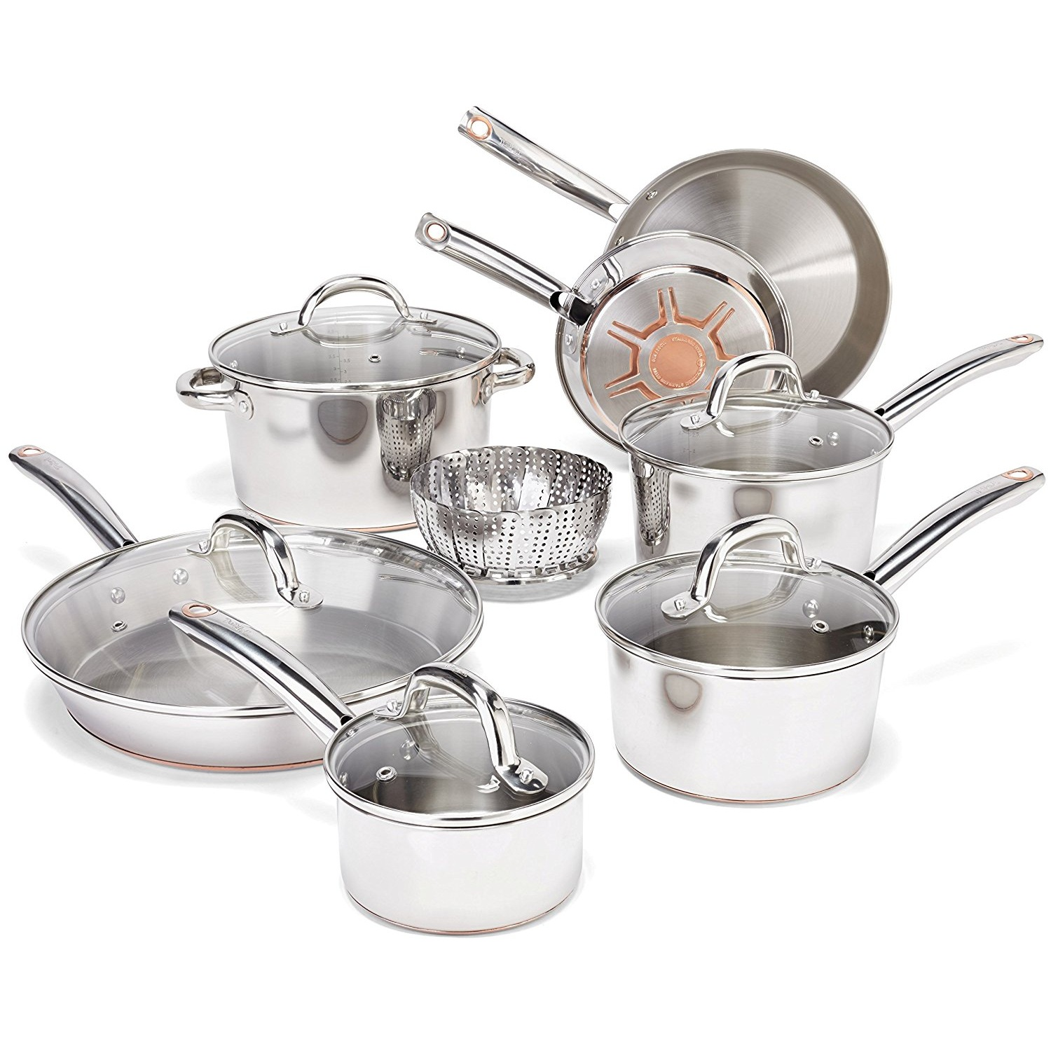 T-Fal C836SD Stainless Steel Cookware Set